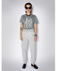 Zoe Karssen Holly ZK Logo Regular Fit Tee - Gris