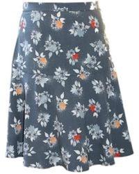 Taifun Skirt 410115 Flower - Size 36 / S - Blauw