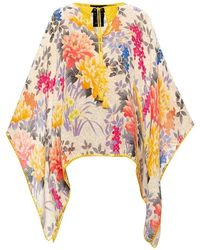 Etro Patterned Poncho - Geel
