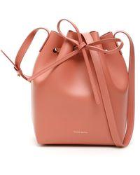 Mansur Gavriel Mini bucket bag - Rose