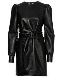 Zoe Karssen Nikita Leather Dress - Zwart