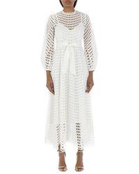 Zimmermann Long Dress - Wit