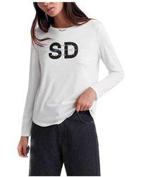 Superdry Camiseta Graphic - Weiß