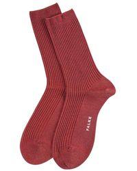 Falke Shiny Rib Socks - Rood