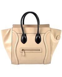 Céline Vintage Mini Luggage - Naturel