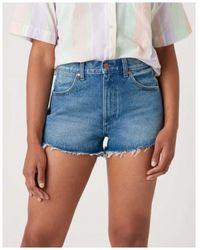 Wrangler Denim Shorts Azul