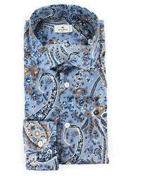 Etro - Shirt Azul - Lyst