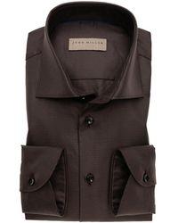 John Miller Tailored fit shirt - Marron