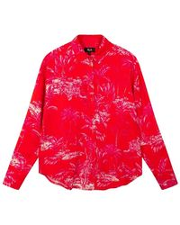 Alix The Label Tropical Oversized Blouse - Rood