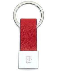 Carolina Herrera Leather Keychain - Rot