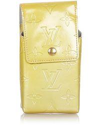 Louis Vuitton Tweedehands Vernis Sigarettenkoker Leer - Geel