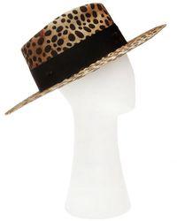 Nick Fouquet Lynx Hat Marrón