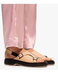 Adieu Type 140 leather sandals - Neutro