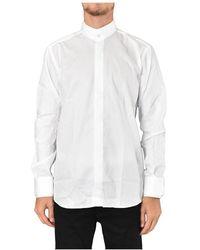 Karl Lagerfeld Camicia Collo Coreano - Bianco
