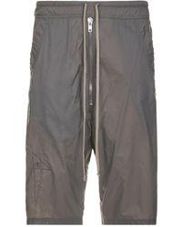 Rick Owens Bela Pod Shorts - Grijs