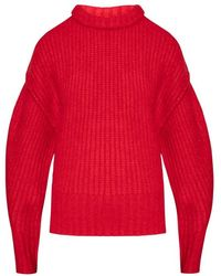 Holzweiler Ribbed Sweater - Rood