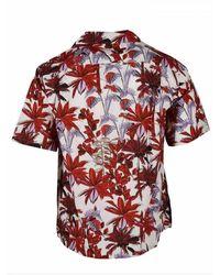 Prada Palm Print Shirt Rojo
