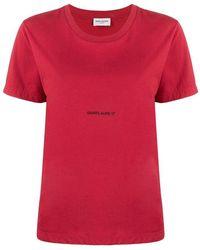 Saint Laurent - T-shirt - Lyst