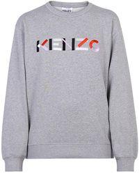 KENZO Embroidered Sweatshirt - Grijs