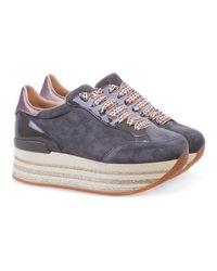 Hogan - Sneaker Maxi H222 Gris - Lyst