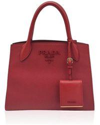 Prada Saffiano red leather handbag - Rosso