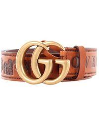 Gucci 409416d7git Belt - Bruin