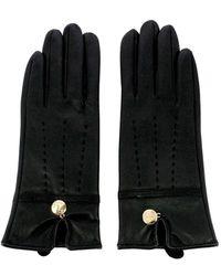 Guess Women's Leatherette Gloves - Zwart