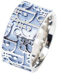 Dior Bague Trotteur Oblique - Bleu