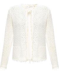 IRO Raw-cut cardigan - Blanc