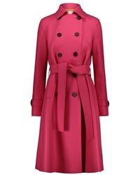 Harris Wharf London Double-breasted Trench Coat - Roze