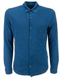 Majestic Filatures Shirt - Bleu