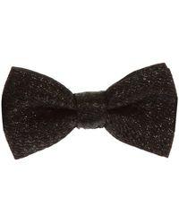 DSquared² Bow Tie With Metallic Fiber - Zwart