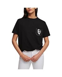 Karl Lagerfeld T-shirt - Zwart