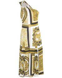 Versace Imprime Jersey Manches Dress - Neutre