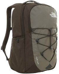 The North Face Jester Rugzak 15 Inch New Taupe Green - Zwart
