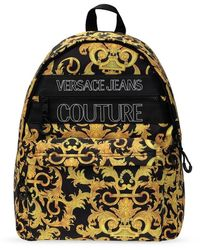 Versace Jeans Couture Backpack With Logo - Geel