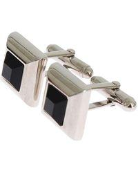Dolce & Gabbana Brass Stone Cufflinks - Grigio