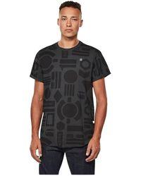 G-Star RAW Badges T-shirt - Zwart