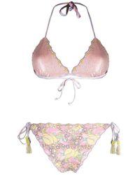 Anjuna Floral Reversible Bikini Rosa