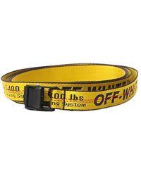 Off-White c/o Virgil Abloh Industrial belt - Jaune