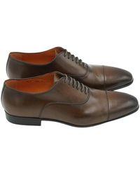 Santoni Chaussure À Semelle Gomme - Bruin