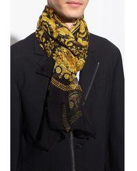 Versace Baroque scarf Amarillo