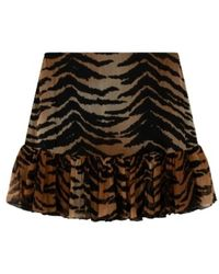 Alix The Label Mini Skirt - Marrone