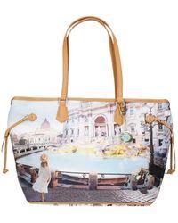 Y Not? Shopping Bag Rome Trevi - Blu