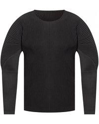 Issey Miyake Long sleeve T-shirt - Nero