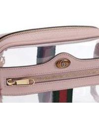 Gucci Ophidia mini transparent bag - Rosa