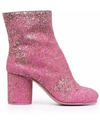 Maison Margiela Glittred Tabi Booties - Roze