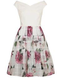 Ted Baker Magnificent Bardot Dress - Wit