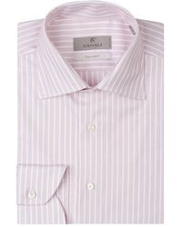 Canali Striped Shirt - Rood