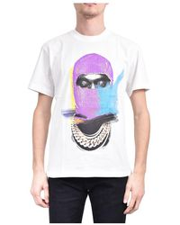 ih nom uh nit T-shirt mask painted on front and logo - Blanc